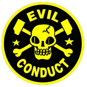 """Evil Conduct """"Skull"""" Aufnäher / Patch, gestickt"""