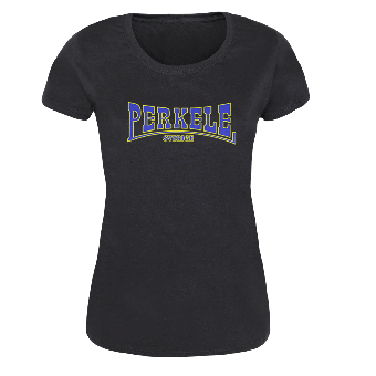 Perkele (Logo, schwarz) - Girly-Shirt