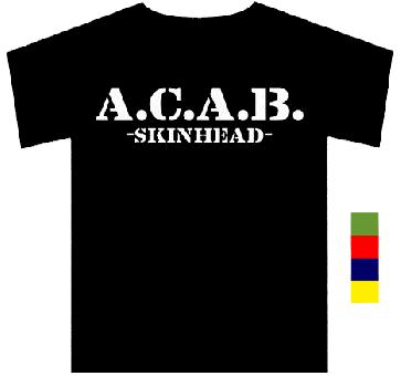 A.C.A.B. Skinhead  TShirt