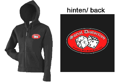 "Social Distortion ""Gambling..."" - Girly ZIP Hooded Jacket"