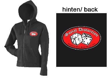 "Social Distortion ""Gambling..."" - Girly ZIP Hooded Jacket"