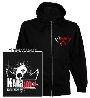 """Kärbholz """"Skull"""" Zip Hooded Jacket"""