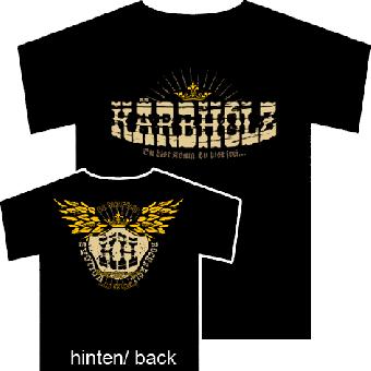 "AUSVERKAUFT Kärbholz ""Du bist König, du bist frei..."" T-Shirt (XXL) black | XXL"