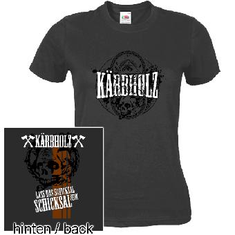 """Kärbholz """"Schicksal"""" Girly-Shirt (anthrazit)"""