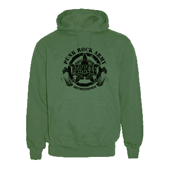 "Perkele ""Punk Rock Army"" Kapu / hooded (olive)"