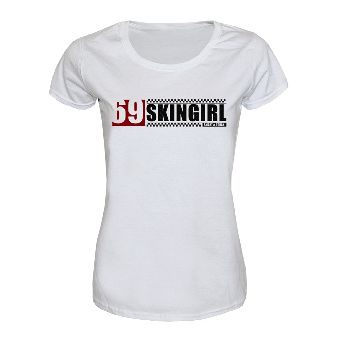 "69 Skinheadgirl ""Smart & Tough"" Girly Shirt (weiss)"
