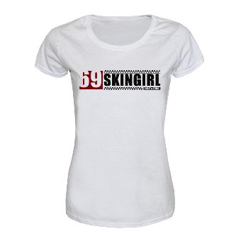 """69 Skinheadgirl """"Smart & Tough"""" Girly Shirt (weiss)"""