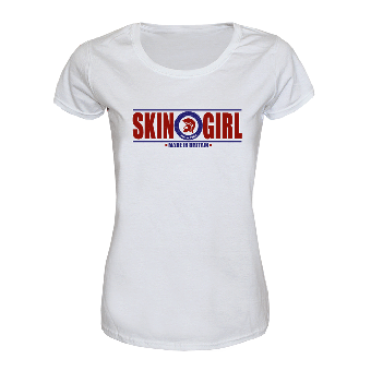 "Trojan Skingirl ""Made in Britain"" Girly Shirt (weiss)"