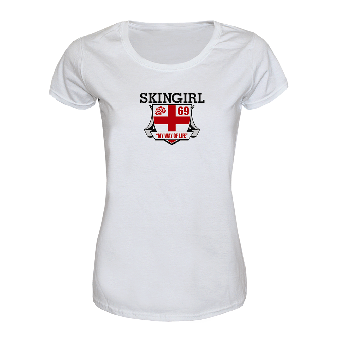 "Skingirl ""english Rose"" Girly Shirt (weiss)"