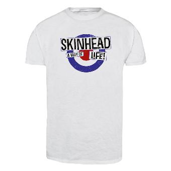 """Skinhead """"Mod"""" T-Shirt (weiss)"""