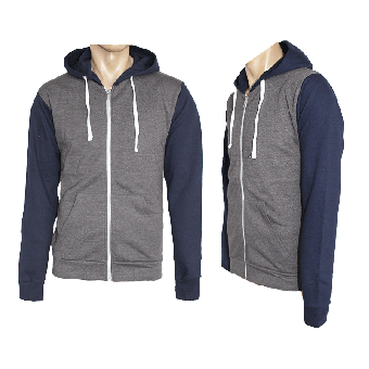 Kapuzenzipjacke/Zip Hooded  (charcoal/navy)