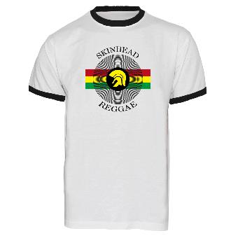 """Skinhead Reggae """"Vinyl"""" Ringer Shirt (white)"""