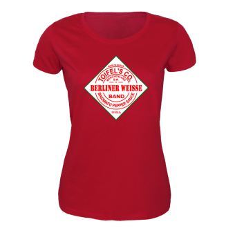 """Berliner Weisse """"Tabasco"""" Girly Shirt (rot)"""