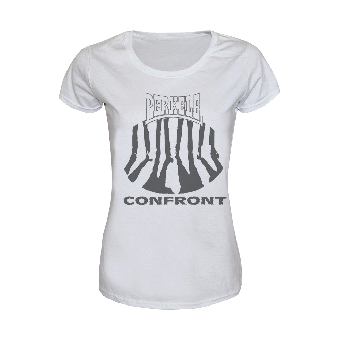 "Perkele ""Confront"" Girly Shirt (blanc)"