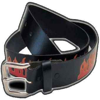 "Gürtel ""Flammen"" (aus Leder / Leather)"