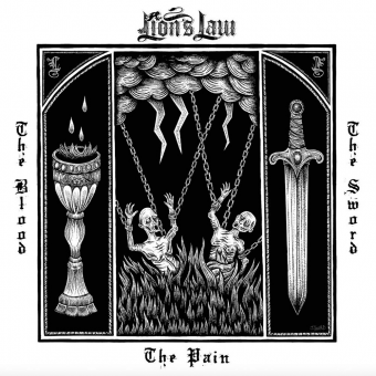 "Lion`s Law ""The Pain, the Blood and the Sword"" LP (red/black splatter)"
