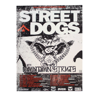 "Street Dogs ""Live 2012"" A1 Poster (gefaltet)"
