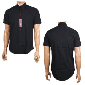 "Merc ""Baxter"" Button Down Hemd (kurz) (schwarz/black)"