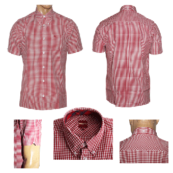 "Merc Button Down Hemd  ""Terry"" (kurz) (blood)"