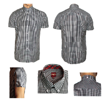 "Merc Button Down Hemd  ""Terry"" (kurz) (schwarz/black)"