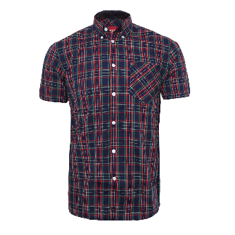 "Merc ""Mack"" Button Down Hemd (kurz) (navy)"