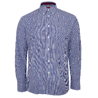 "Merc Button Down Hemd  ""Japster"" (lang) (royale blue)"