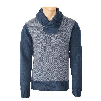 """Merc """"Brewton"""" Pullover (wool) (blue) (reduziert)"""