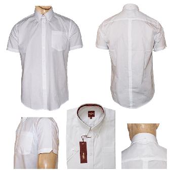 """Merc """"Baxter"""" Button Down Hemd (kurz) (weiss/white) (reduziert)"""