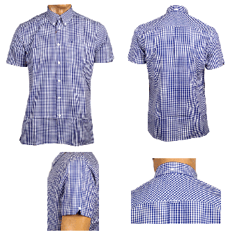 "Merc Button Down Hemd ""Terry"" (kurz) (royale blue)"