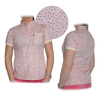 """Merc """"Mildred"""" Girly Polo Hemd (kurz) (pink) (reduziert)"""