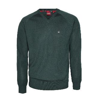 """Merc """"Conrad"""" V-Pullover/ Jumper (dark green)"""