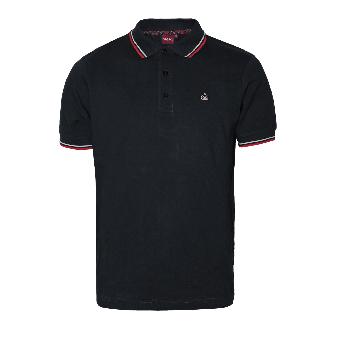 """Merc """"Card"""" Polo (black/red)"""