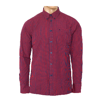 "Merc Button Down Hemd  ""Japster"" (lang) (red/blue)"