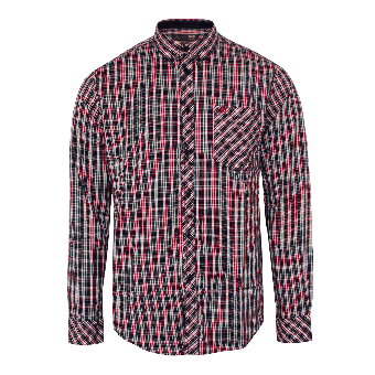 """Merc """"Roswell"""" Shirt (long) (checked/red)"""
