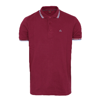 "Merc ""Card"" Polo (weinrot)"