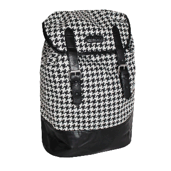 "Merc ""Farlowe"" Dogtooth Bagpack (checked)"