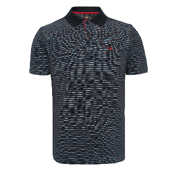 "Merc ""Roundel"" Stripe Polo (navy)"