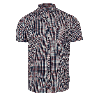 "Merc ""Skelter"" Check Button Down Hemd (navy)"