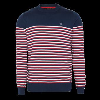 "Merc ""Keeler"" Stripe Pullover (navy)"