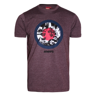 "Merc ""Granville"" T-Shirt (wine marl)"