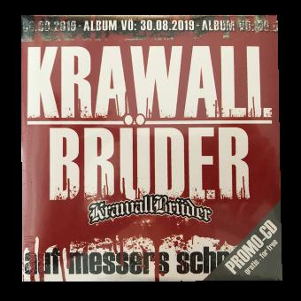 """KrawallBrüder """"Auf Messers Schneide"""" 4 Track Promo CD (free / gratis)"""
