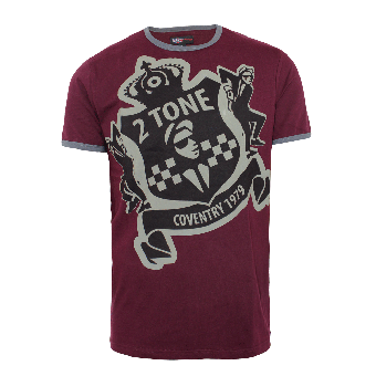 "Warrior ""2Tone"" T-Shirt (burgund)"