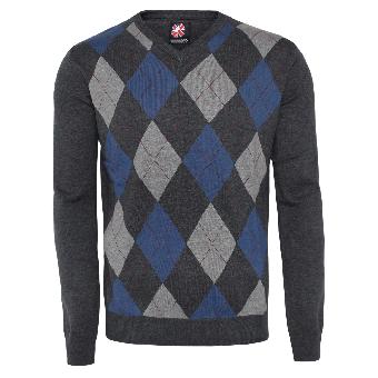 """Warrior """"Argyle"""" Sweater (blue)"""