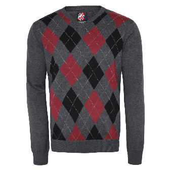 "Warrior ""Argyle"" Sweater (bordeaux)"