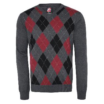 "Warrior ""Argyle"" Sweater (bordeaux)"