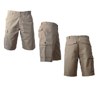 Hooligan-Streetwear - Shorts (Logo) (beige) (reduziert)