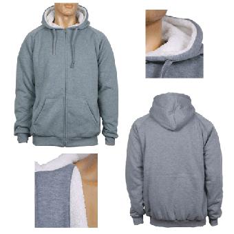 Urban Classics  Winter Zip Jacke/Hooded (grau/grey)