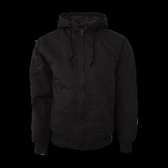 Urban Classics  Cotton Zip/Hooded (schwarz) (reduziert)