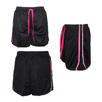 "Urban Classics ""Mesh"" Girly Short (black/pink)"