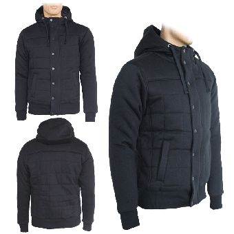 Urban Classics Winter Jacke/Hooded (black)